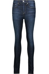 Rag And Bone High Rise Skinny Jeans Dark Denim