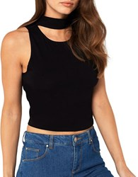 Miss Selfridge Solid Cropped Top Black