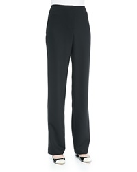 Caroline Rose Travel Gabardine Straight Leg Pants Black