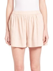 Vince Pleated Pull On Shorts Optic White Rose Water