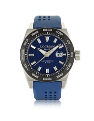 Locman Stealth 300 Mt Analog Display Automatic Self Wind Blue Stainless Steel Titanium And Silicone Men S Watch