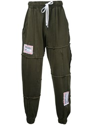 Liam Hodges Process Patchwork Sweatpants Green