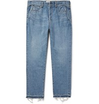 Remi Relief Frayed Denim Jeans Blue
