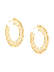 Wouters And Hendrix My Favourite Filigree Hoop Earrings Metallic