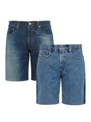 Bless Set Of Two Denim Shorts Blue