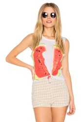 Chaser Watermelon Muscle Tee White