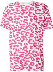 Sister By Sibling Leopard Print T Shirt White