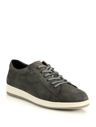 To Boot Barlow Suede Sneakers Red Grey