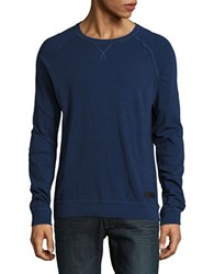 Strellson Long Sleeve Cotton Tee Navy