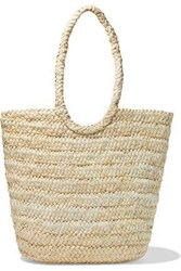 Iris And Ink Woman Tappen Woven Straw Tote Beige