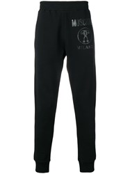 Moschino Printed Logo Track Pants Black