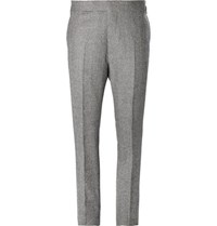 Kingsman Grey Puppytooth Wool Suit Trousers Gray