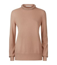Christopher Kane Embellished Cashmere Sweater Female Neutral