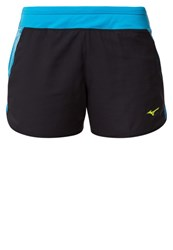 Mizuno Phenix Sports Shorts Black Atomic Blue