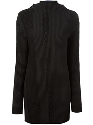 Sharon Wauchob Mesh And Lace Panelled Blouse Black