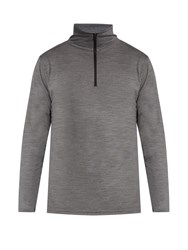 Mover Half Zip Merino Wool Base Layer Top Charcoal