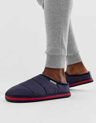 Dunlop Quilted Nylon Slipper In Navy