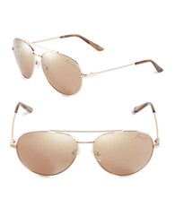 Brian Atwood 59Mm Aviator Sunglasses Rose Gold