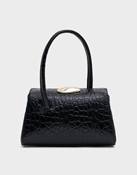 Little Liffner Baby Boss Bag In Black Leather Black Croc