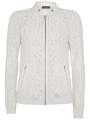 Mint Velvet Cream Embroidered Cardigan Cream