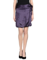 Cristinaeffe Mini Skirts Deep Purple