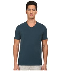 Vince S S V Neck T Shirt Cypress Men's Short Sleeve Pullover Green