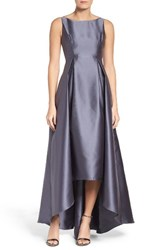 Adrianna Papell Women's Sleeveless High Low Ballgown
