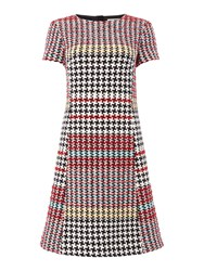 Oui Multi Check Dress Check