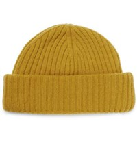 Oliver Spencer Dock Ribbed Wool Beanie Yellow