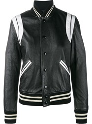 Saint Laurent Varsity Jacket Black