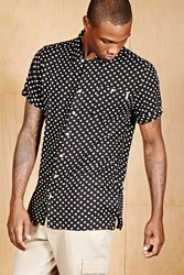 Forever 21 Soul Star Polk A Dot Shirt Black White