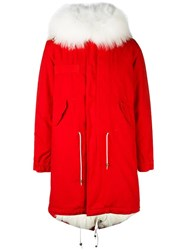 Mr And Mrs Italy Army Parka Coat Red