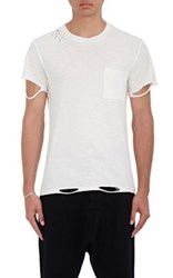 Nsf Men's Paulie Destroyed T Shirt White