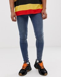 Cheap Monday Him Spray Super Skinny Jeans In Mode Blue