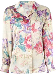 Moschino Vintage Floral Printed Blouse