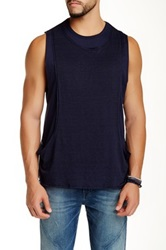 Rogue Overlay Muscle Tank Blue