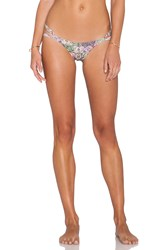 San Lorenzo Loop Strap Thong Bikini Bottom Yellow