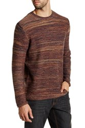 James Tattersall Marled Crew Neck Pullover Sweater Brown