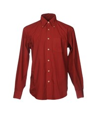 Henry Cotton's Shirts Maroon