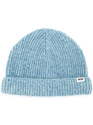Wood Wood Knit Beanie Blue