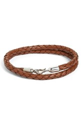 Caputo And Co. Men's Braided Leather Wrap Bracelet
