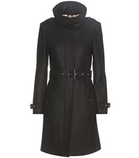 Burberry Gibbsmoore Wool And Cashmere Blend Coat Black