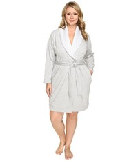 Ugg Plus Size Blanche Robe Seal Heather Women's Robe White