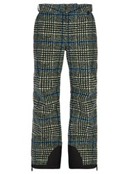 3 Moncler Grenoble Check Cotton Blend Ski Trousers Grey Multi