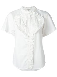 Manoush Ruffled Trim Blouse White