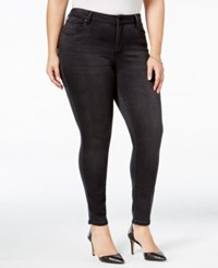 Celebrity Pink Trendy Plus Size Super Soft Skinny Jeans Charcoal