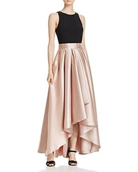 Aqua High Low Ball Gown Black Taupe