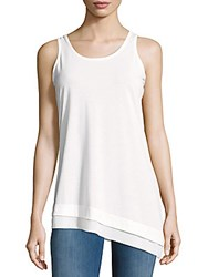 Nanette Lepore Solid Asymmetric Hem Top White
