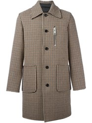 Yang Li Houndstooth Coat Nude And Neutrals