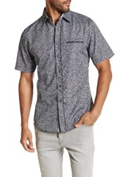 Smash Gingham Circle Short Sleeve Woven Shirt Black